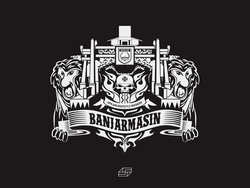 Black White Logo - Emblem Ornament JBI BANJAR