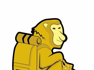 illustration monkey regional