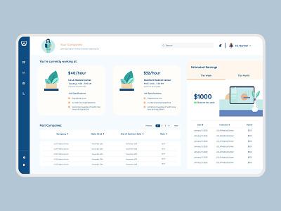 MedSTAFF Platform - Companies Page health app healthcare medicine app medicine doctor app illustration modern branding website design uiux