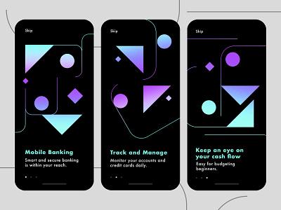 Finance App - Welcome Screens mobile banking app bank app mobile app ui ux design budget app finance finance app