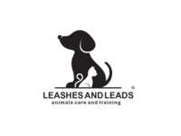 negative space dog and cat Logo