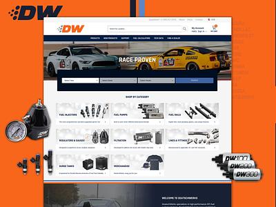 DeatschWerks Website Design & Development parts racing website shopify