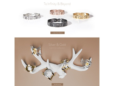 Rustic Cuff Homepage Composition interactive web photography photoshop