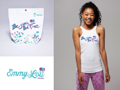 Emmy Lou + Ivivva Fundraising Promo logo screen printing clothing