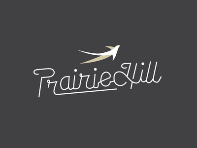 Prairie Hill Logo Concept hand type logo