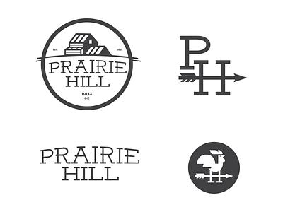 Prairie Hill Logo Concept brand identity modern farmhouse