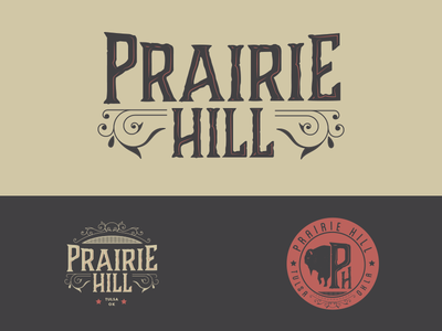 Prairie Hill Logo Concept type country western badge