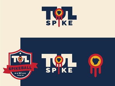 Tulsa Spikeball Club design badge logo sports logo