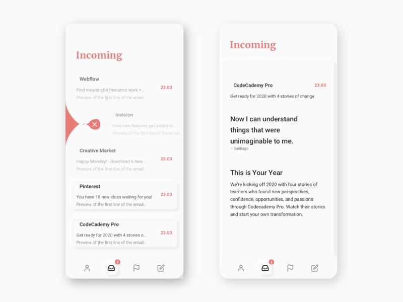 Soft UI - Mail Concept