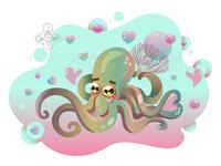 Octopus in love