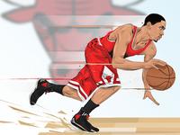 Derrick Rose Illustration