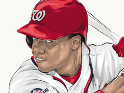 Soto Illo nationals adobedraw ipad pro baseball illustration