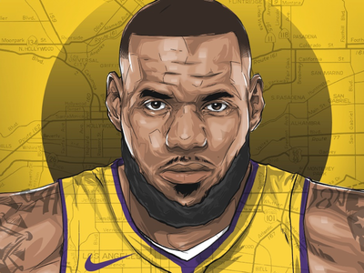 L. A. Bron cycle adobe draw ipad pro lakers lebron