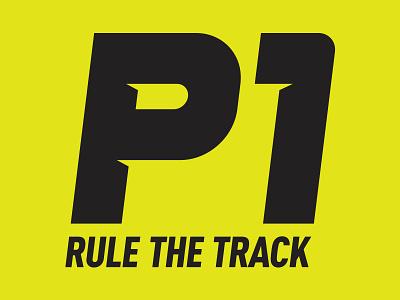 P1 branding brand motorsports icon logo p1 racing