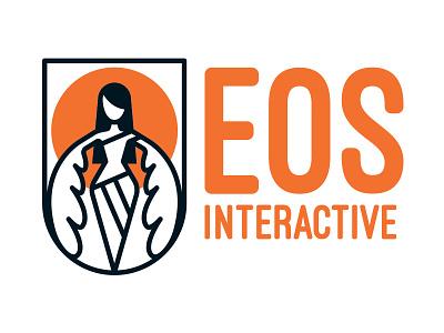Eos Interactive developer gamedev game goddess god sun badge orange angel wings