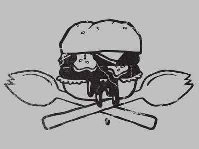 Fast Food Arms Race grease food fast cheeseburger buns pickle spork skull burger