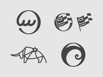 WLCL Icon Concepts logo icon o wave waves semaphore taurus bull constellation flag ocean cruise