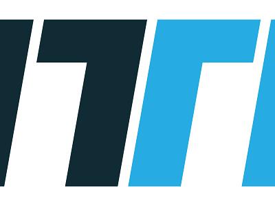 TT letterform cyan blue wordmark logo t