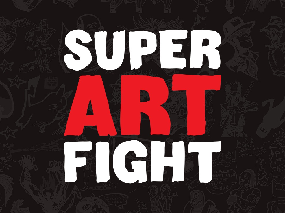 Super Art Fight Rebrand illustration drawing rebrand hand drawn font hand drawn icon redesign logo art