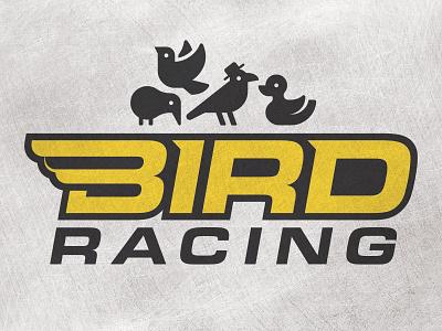 Bird Racing black yellow birds logo racing