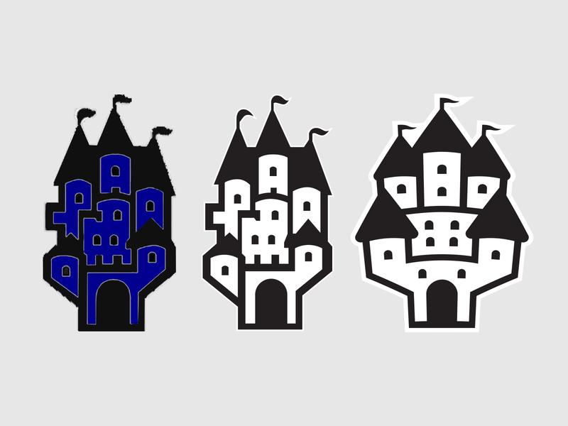 Castle Vectorization icon logo castles