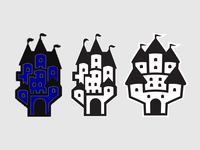 Castle Vectorization icon logo castles