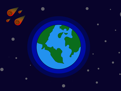 Space And Earth vector design art illustraion