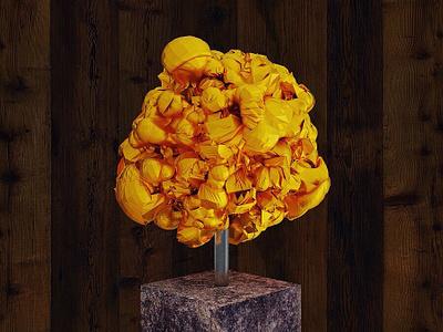 Gold 3d abstract sculpture illustration design art abstract art abstract illustraion design 3d art 3d