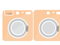 Icons - Washer and Dryer for Infographic