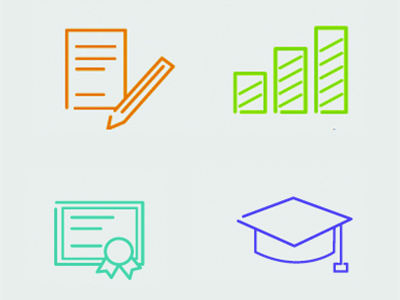 Simpleicons for education website icons website line education