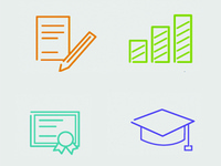 Simpleicons for education website