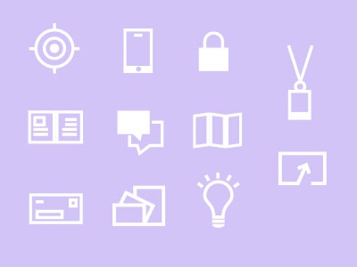 Icons - Infographic and mailer  icons infographic business mailer lines