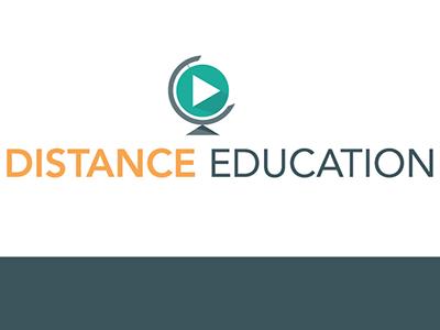Distance Education Branding branding logo online learning distance education globe wordmark