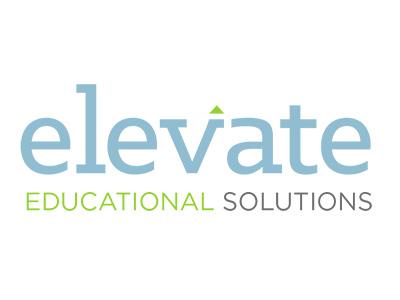 Elevate Logo  branding logo learning education wordmark