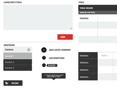 Dashboard UI Elements lionandpanda lionpanda input button dropdown data chart bttn