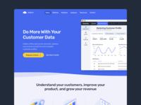 Diablo webflow enterprise ai data landing calendar dashboard interface web