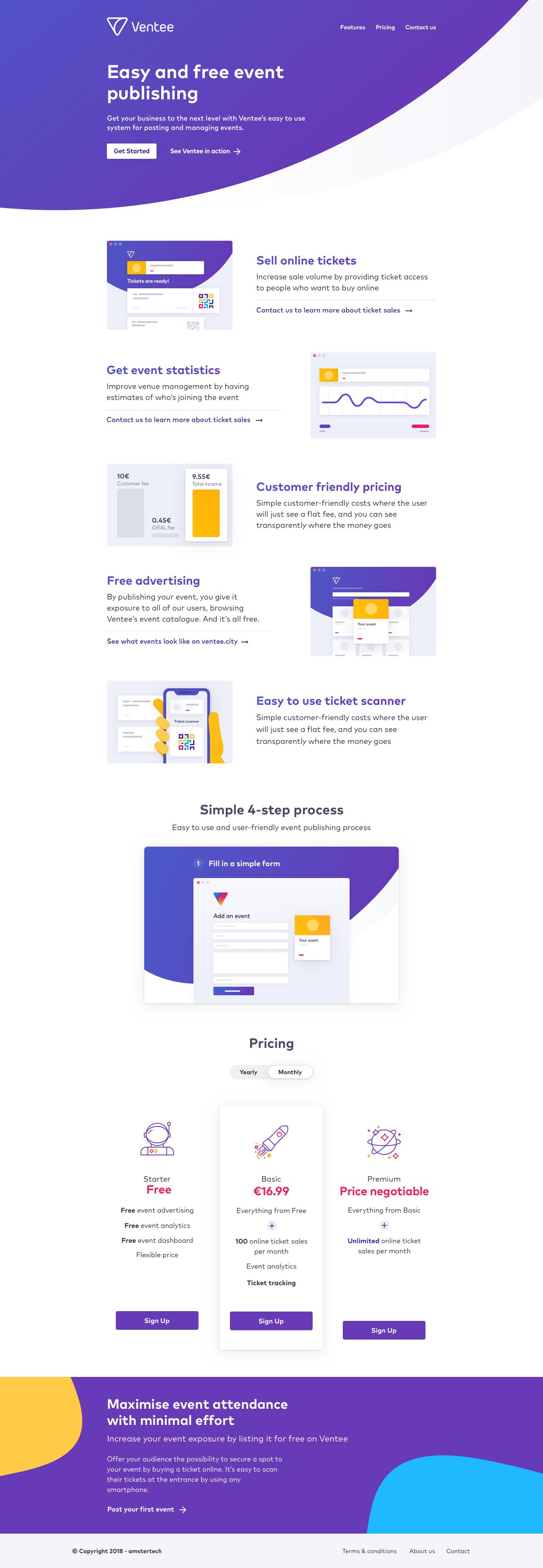 Wireframe marketing design