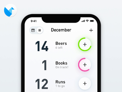 Tally App micro interactions