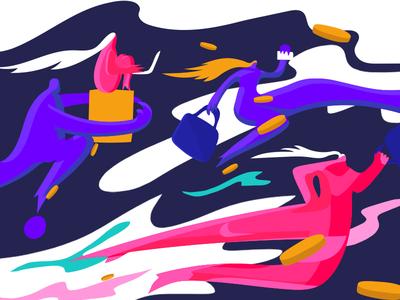 LA Startups illustration people running work webillustration doodle a day doodle sketch adobeillustration adobeillustator cover art illustration art colorful design illustartor vector illustration vector illustration startups startup marketing startup los angeles