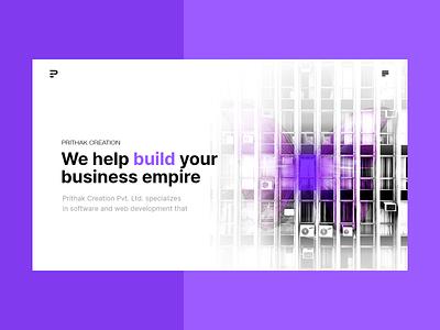 Hero Section minimal typography uidesign desktop web ui design