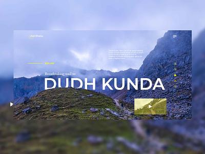 Trekking in Nepal hiking trekking nepal vector design desktop web ui uidesign typography