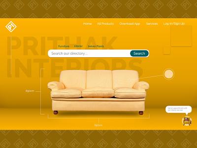Furniture store home page ui design web minimal 3d branding desktop design uidesign ui