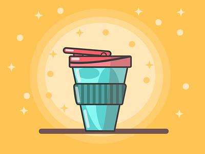 My Daily Travel Mug vector coffee coffee illustration affinity for ipad affinity designer coffee mug travel mug coffee