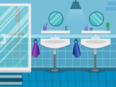 Bathroom Illustration illustrator vector artist bathroom design vector bathroom vector illustration vector art ipad illustration ipad art affinity art affinity designer