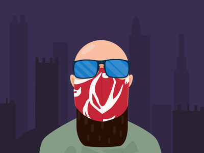 Guy with Mask face mask portrait face mask vector face mask affinity vector affinity designer flat portrait flat art flat design vector illustration commission art vector portrait vector art portrait vector