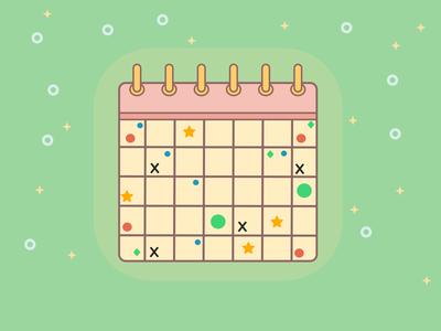 Cute Calendar vector drawing organize illustrator illustration vector calendar vector artwork calendar