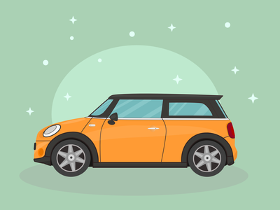 Cute Mini Cooper car drawing mini cooper vector artwork illustration vector illustration vector car