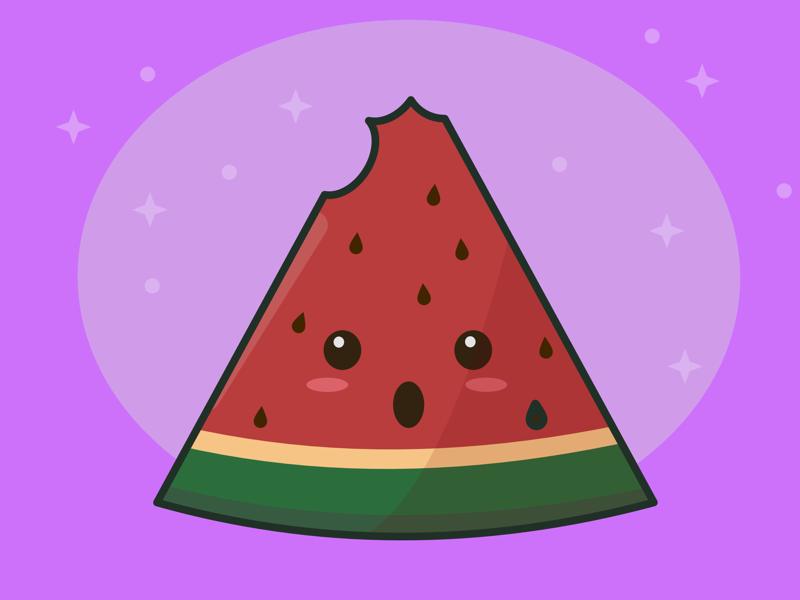 Summer Fruit affinity designer kawaii fruit kawaii vector fruit fruit art summer fruit fruit watermelon