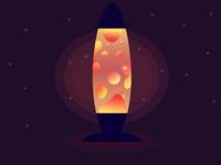 Lava Lamp Drawing affinity designer vector artwork flat illustration flat art vector illustration lava lamp