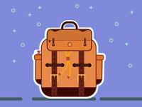 Backpack Sticker illustration affinity vector affinity designer vector art sticker backpack